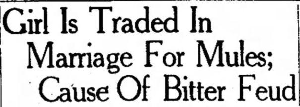 1929 mule bride