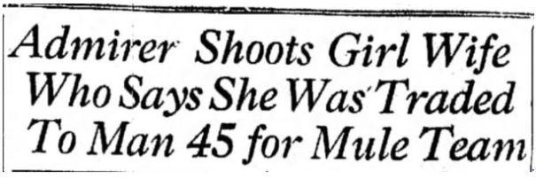 1929 mule bride08